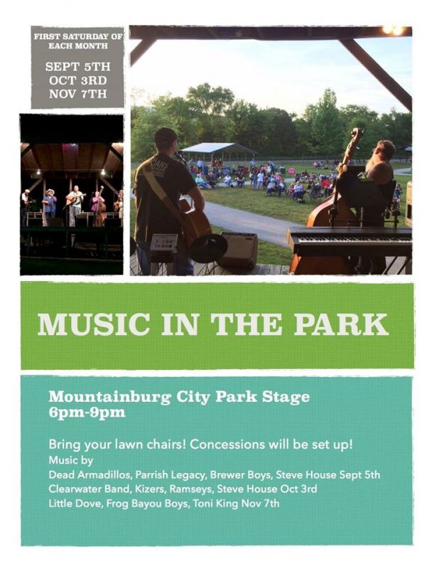 Music in the Park Fall Schedule